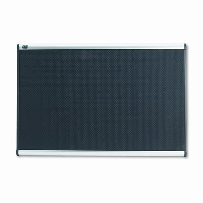 Quartet® Embossed Bulletin Board in Black with Aluminum Frame