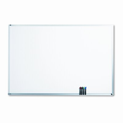 Quartet® Magnetic Dry-Erase Porcelain Board in White with Aluminum Frame