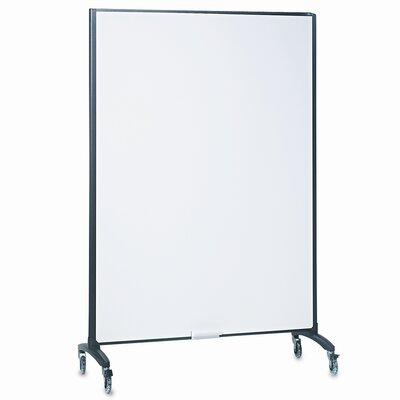 Quartet® Motion Series Room Divider Partition, Fabric/Porcelain, 48w x 72h