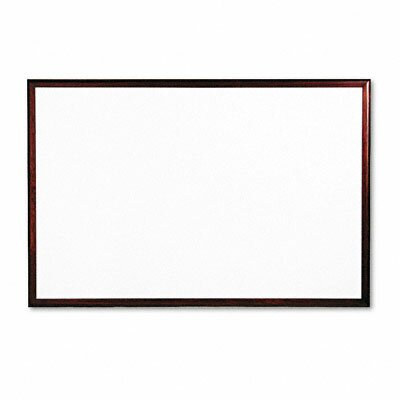 Quartet® Magnetic Dry-Erase Porcelain Board in White with Solid Mahogany Frame