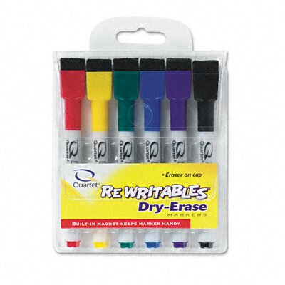 Quartet® Rewritables Dry Erase Mini-Markers (Set of 6)