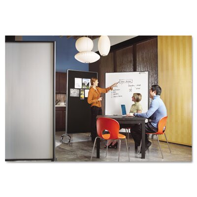 Quartet® Motion Series Room Divider Partition in Fabric and Porcelain