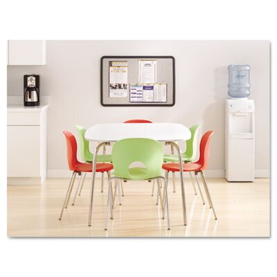 "Quartet® Contour Granite-Finish Tack Board with Black Frame 48"" W x 36"" D"