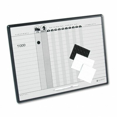 "Quartet® Magnetic Employee In/Out 1'6"" x 2' Whiteboard"