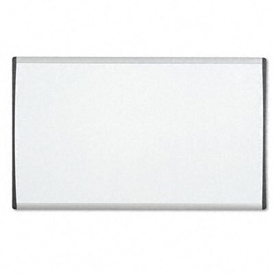 Quartet® Magnetic Dry-Erase Painted Steel Board in White with Aluminum Frame
