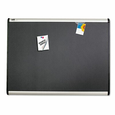 Quartet® Prestige + Magnetic Fabric Bulletin Board with Aluminum Frame