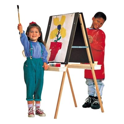 Quartet® Double Panel Easel, Height Adjustable, Natural Oak