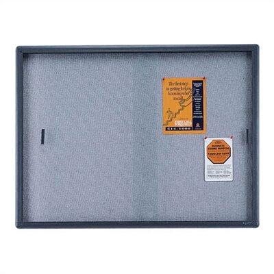Quartet® Enclosed Bulletin Board, Fabric/Cork/Glass