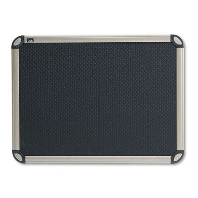 Quartet® Euro-Style Bulletin Board in Black with Aluminum Frame