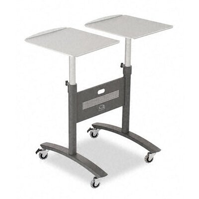 Quartet® Two-Arm LCD Projector Cart in Graphite