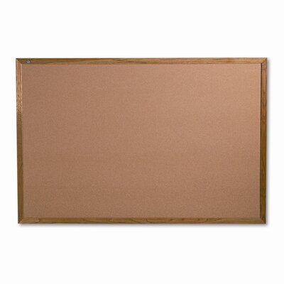 Quartet® Bulletin Board with Solid Oak Frame