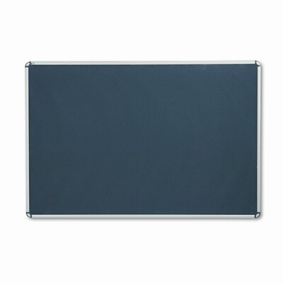 Quartet® Euro-Style Bulletin Board, High-Density Foam, 72 x 48, Black/Aluminum Frame