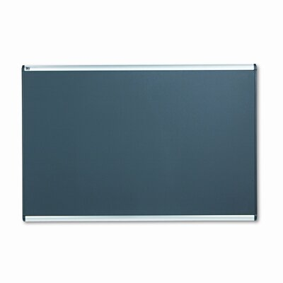 Quartet® Prestige Bulletin Board, Diamond Mesh Fabric, 72 x 48, Gray/Aluminum Frame