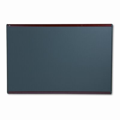 Quartet® Prestige Bulletin Board, Diamond Mesh Fabric, 72x48, Gray/Mahogany Frame