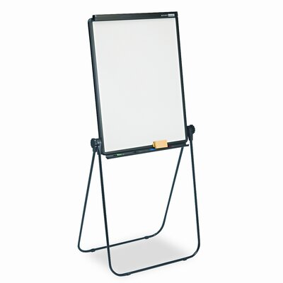 Quartet® Total Erase Presentation Dry-Erase Easel, 26 x 34, White, Black Steel Frame