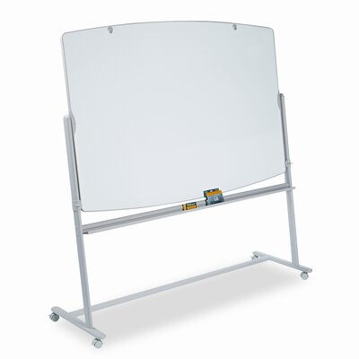 Quartet® Reversible Mobile Presentation Easel, Dry-Erase, 72 x 48, White/Neutral