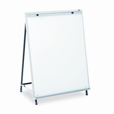Quartet® Dry-Erase Steel Easel, Melamine, 29 x 40, White, Aluminum Frame