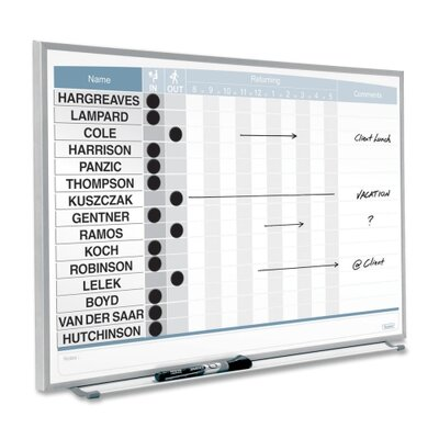 "Quartet® Matrix Aluminum Frame In/Out Board 16"" x 23"""