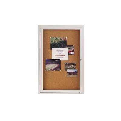 Quartet® Enclosed Cork Bulletin Board
