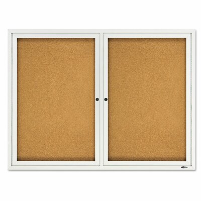Quartet® Double Enclosed Cork Bulletin Board