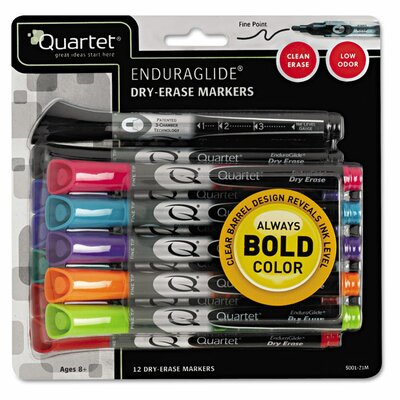 Quartet® EnduraGlide Dry Erase Marker (Pack of 12)