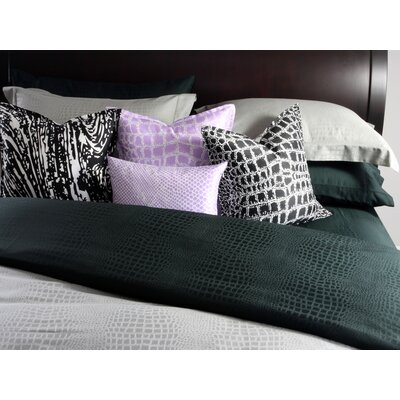 Plush Living Caiman Sheet Set in Jet Set Black