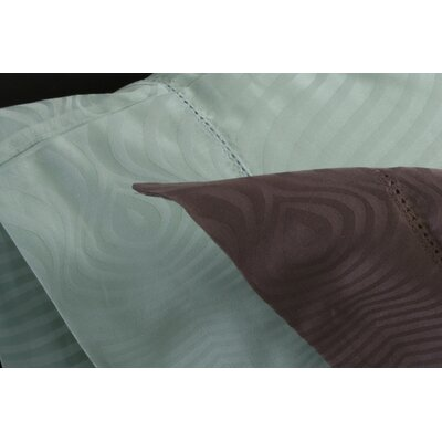 Plush Living Peacock Pillow Case Set in Silt Green