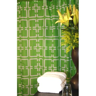 Plush Living Blocks Shower Curtain