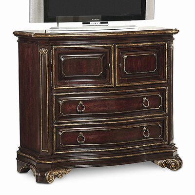 Grand European 4 Drawer Media Dresser