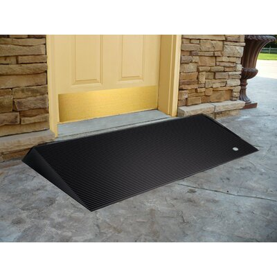 Rubber Threshold Ramps with Beveled Edges