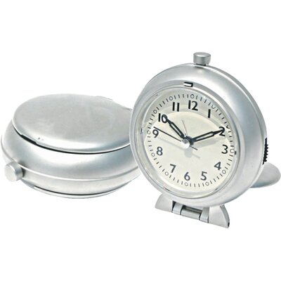 New Haven Metal Travel Alarm Clock with Snooze