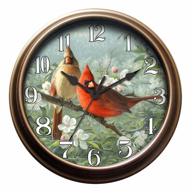 New Haven Parrot Wall Clock in Distressed Antique Bronze