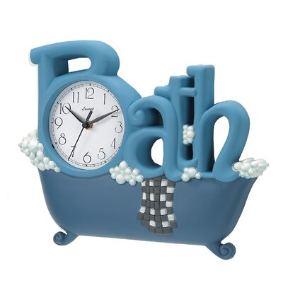 Novelty Bath Wall Clock in Blue