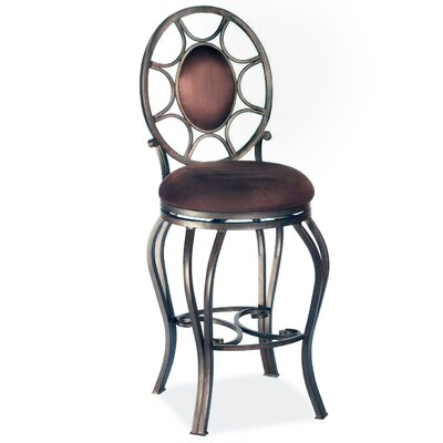 "Chintaly Imports 30"" Swivel Memory Return Bar Stool with Oval Back"