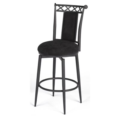 "Chintaly Imports 30"" Swivel Memory Return Bar Stool in Black"