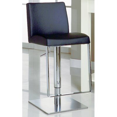 Chintaly Adjustable Causal Swivel Stool in White