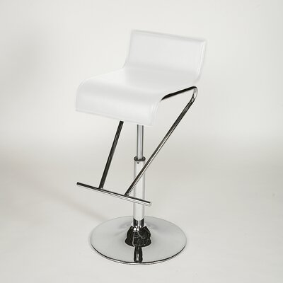 Chintaly Adjustable Swivel Stool in White