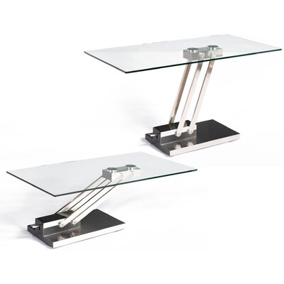 Chintaly Imports Ryan Coffee Table with Adjustable Steel Base