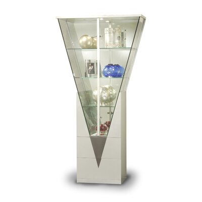 Curio Cabinet with Mirrored Interior