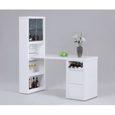 Chintaly Imports Essex Bar in Glossy White