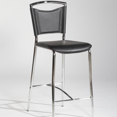 Chintaly Imports Gwen Barstool in Black