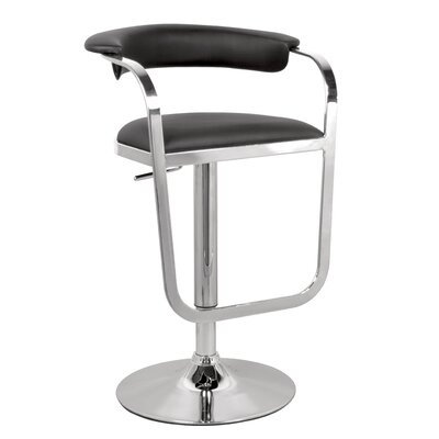 Chintaly Adjustable Swivel Bar Stool with Cushion