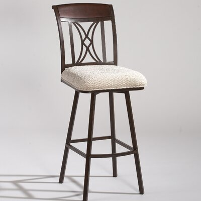 "Chintaly Imports 47.8"" Memory Return Swivel Barstool in Beige"