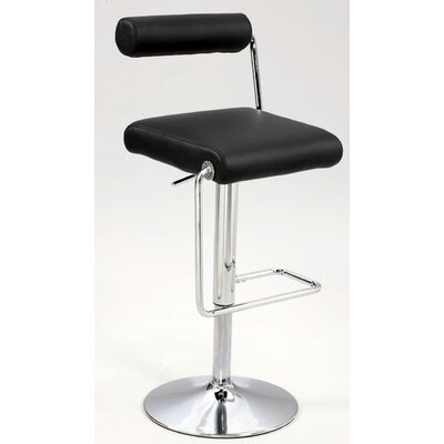 "Chintaly Imports 23"" Adjustable Bar Stool with Cushion"