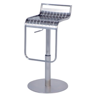 Chintaly Adjustable Swivel Stool in Silver