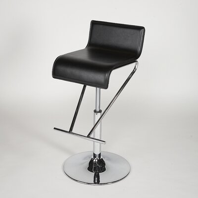 Chintaly Adjustable Swivel Stool in Black