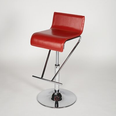 Chintaly Adjustable Swivel Stool in Red