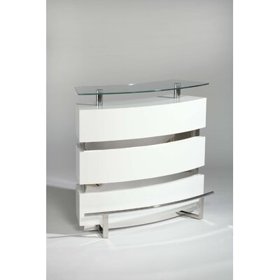 Chintaly Imports Xenia Bar in White
