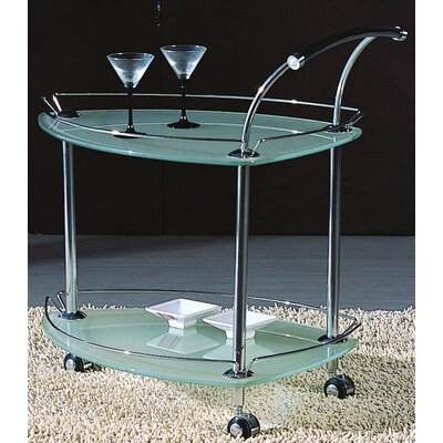 Chintaly Serving Cart with Glass Top