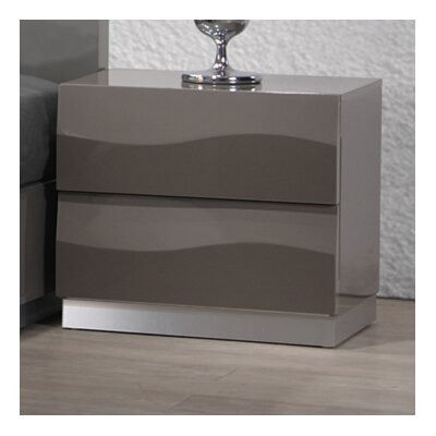 Chintaly Delhi 2 Drawer Nightstand